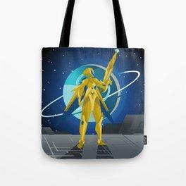 space suit science fiction soldier Tote Bag