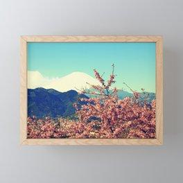 Mountains & Flowers Landscape Framed Mini Art Print