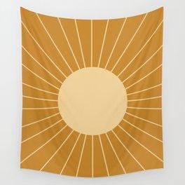 Minimal Sunrays - Golden Wall Tapestry