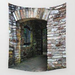 Classic Brick Doorway Wall Tapestry
