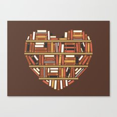 I Heart Books Canvas Print