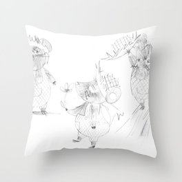 Country Mouse Throw Pillow