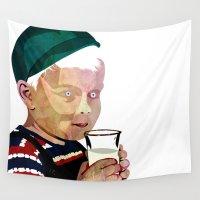 milk Wall Tapestries featuring Milk by Alvaro Tapia Hidalgo