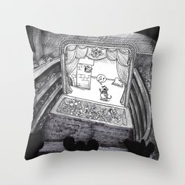 A Night at the Royal Opera Mouse Throw Pillow