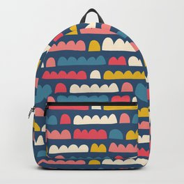 Blue Pink White Yellow Doodle Shapes Backpack