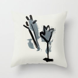 a tulip and a thistle Throw Pillow
