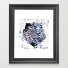 CANCER CONSTELLATION MANDALA Framed Art Print
