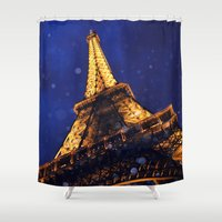 eiffel Shower Curtains featuring EIFFEL by ZakPhotography