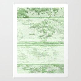 Abstract jungle landscape Art Print