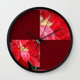 Mottled Red Poinsettia 2 Blank Q10F0 Wall Clock