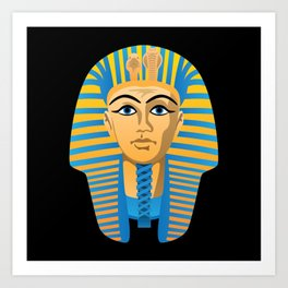 Egyptian Golden Pharaoh Burial Mask Art Print