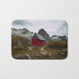 The Mint Hut in Hatcher Pass, Alaska Bath Mat