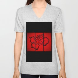 Flowers magic roses 9 Unisex V-Neck