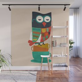 Morning Owl Wall Mural