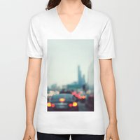 chicago V-neck T-shirts featuring Chicago by KimberosePhotography