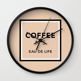 Latte No5 Wall Clock