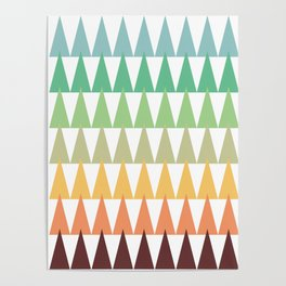 Colorful Corn Mountains Poster