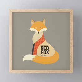 Hello Red Fox Framed Mini Art Print