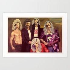 Whitesnakes Art Print