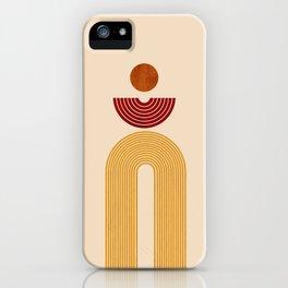 Abstract print, printable rainbow wall art, terracotta artwork, boho wall art, boho decor, earth tones, modern art download INSTANT DOWNLOAD iPhone Case