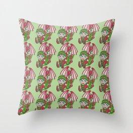 Dragon Elf Throw Pillow