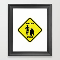 Droid Crossing Framed Art Print