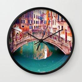 Small Bridge in Venice Wall Clock