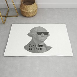 George Washington Cool Sunglasses with Taxation is Theft Rug