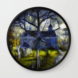 Sleepy Hollow Church Art Van Gogh Wall Clock