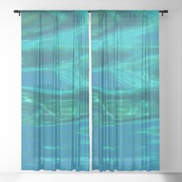 Below the surface - underwater picture - Water design Sheer Curtain