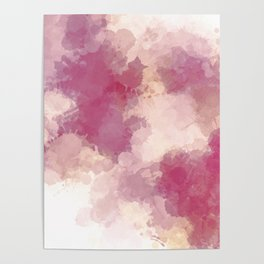 Mauve Dusk Abstract Cloud Design Poster