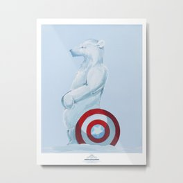 Cap'n Ameri-Bear Metal Print