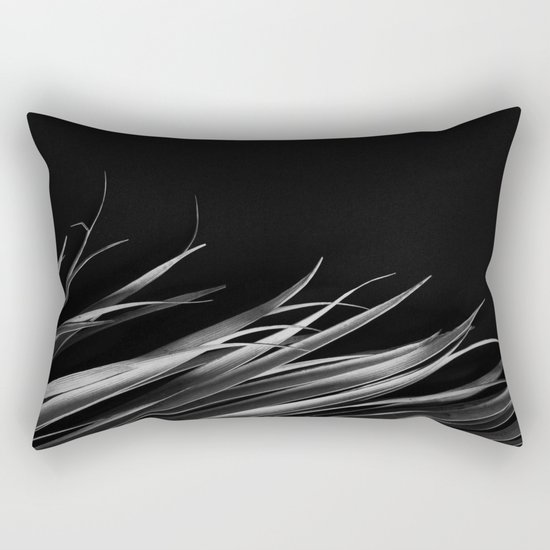 Dark palm leaf Rectangular Pillow