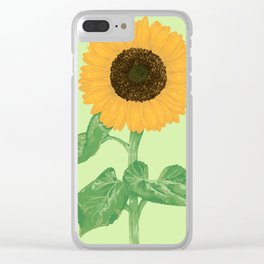 Sunflower #3 Clear iPhone Case