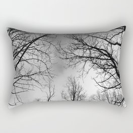 Black and White Canopy Rectangular Pillow