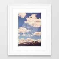 the mountains are calling Framed Art Prints featuring the mountains are calling by shannonblue