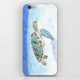 Sea turtle underwater iPhone Skin