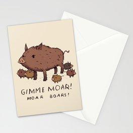 moar boars Stationery Cards