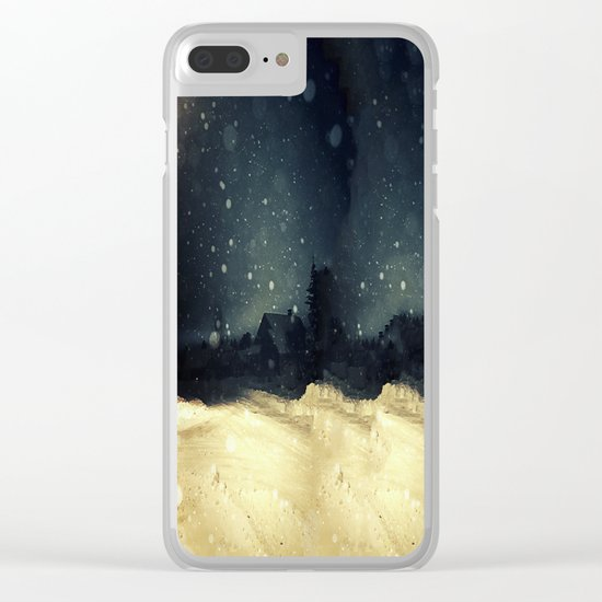 A Winter Night's Walk Clear iPhone Case