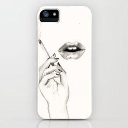 Cigarette Lips iPhone Case