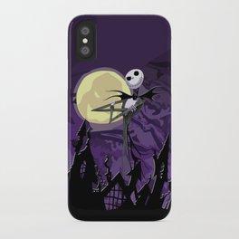 Halloween Purple Sky with jack skellington iPhone 4 4s 5 5c, ipod, ipad, pillow case tshirt and mugs iPhone Case