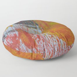 Abstract Paint Swipes Floor Pillow