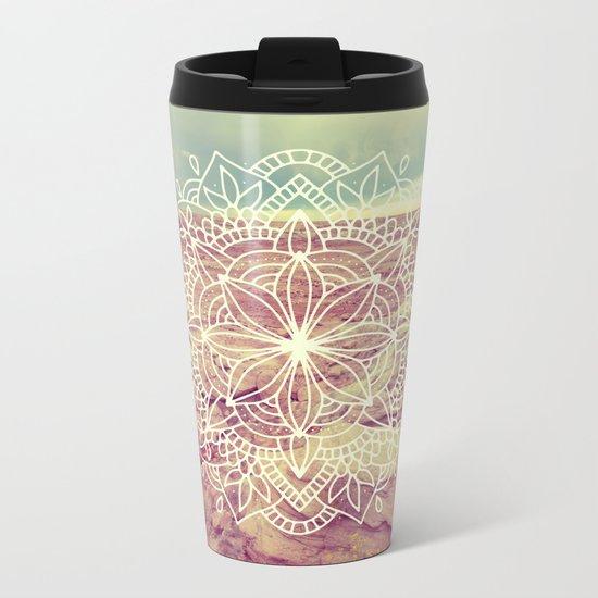 Rain Dance Desert Mandala Metal Travel Mug