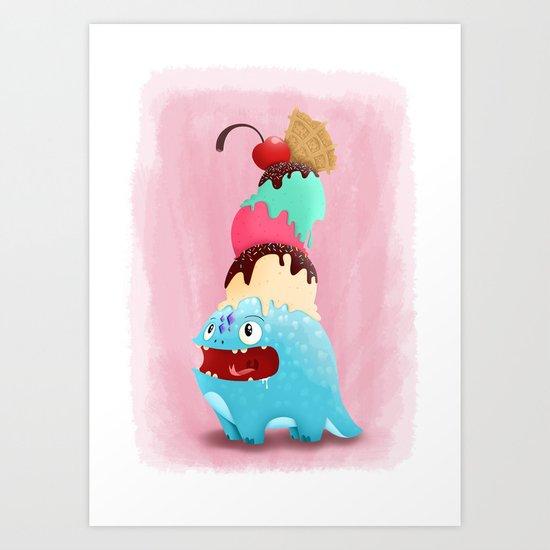 Ice Cream-Dragon Art Print