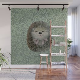 Cute Baby Hedgehog Wall Mural