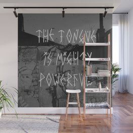 The tongue is mighty powerful Wall Mural