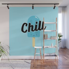 Chill Ice Pop (Blue) Wall Mural