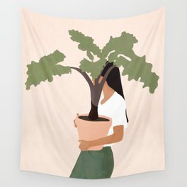 Vase Plant 2 Wall Tapestry