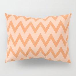 Trendy Orage and Peach Chevron Zigzag Pattern Pillow Sham