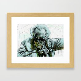 Doc Brown Framed Art Print
